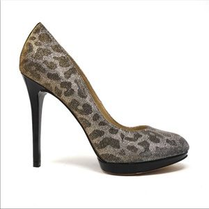 BRIAN ATWOOD Metallic Leopard Frederique Stiletto